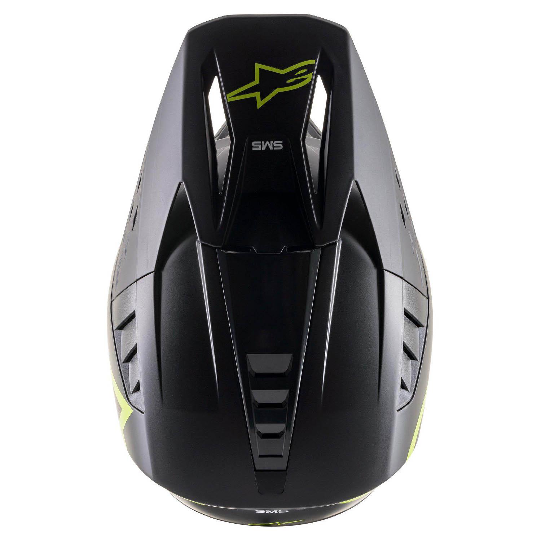 Шлем кроссовый ALPINESTARS SM5 COMPASS вид сверху купить по низкой цене