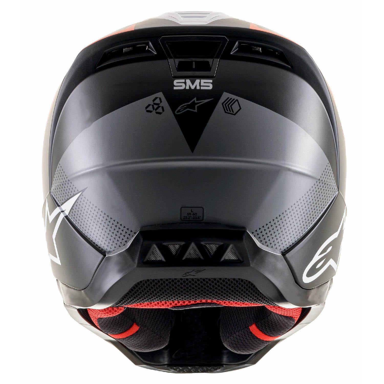 Шлем кроссовый ALPINESTARS SM5 RAYON вид сзади купить по низкой цене