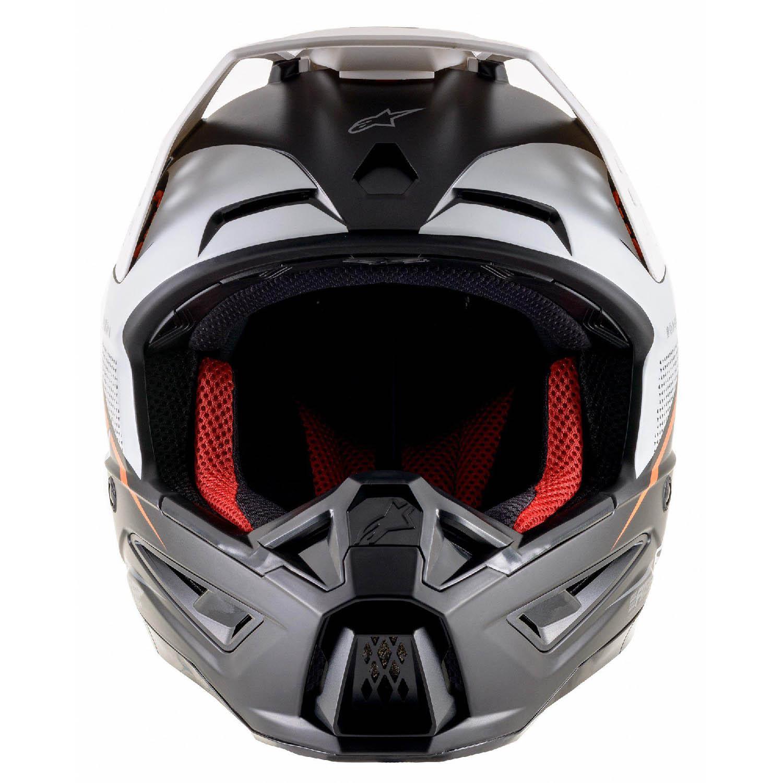Шлем кроссовый ALPINESTARS SM5 RAYON вид спереди купить по низкой цене