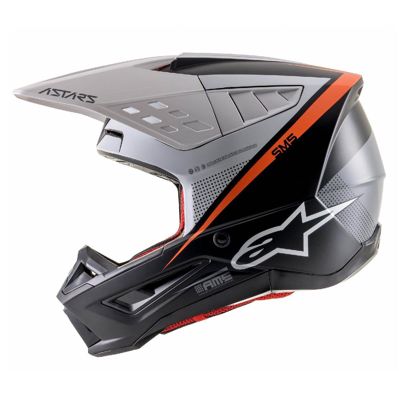 Шлем кроссовый ALPINESTARS SM5 RAYON вид слева купить по низкой цене