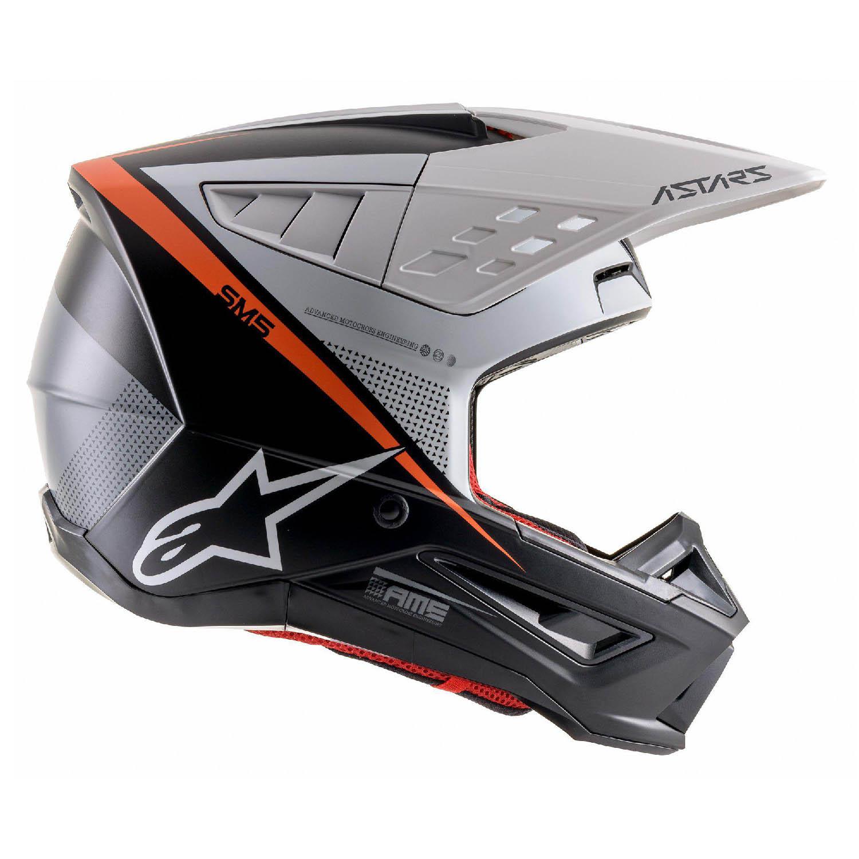 Шлем кроссовый ALPINESTARS SM5 RAYON вид справа купить по низкой цене