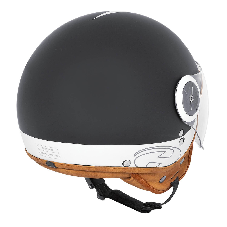 Шлем открытый HELD MC CORRY JET HELMET ABS для мотоциклистов вид сзади купить по низкой цене