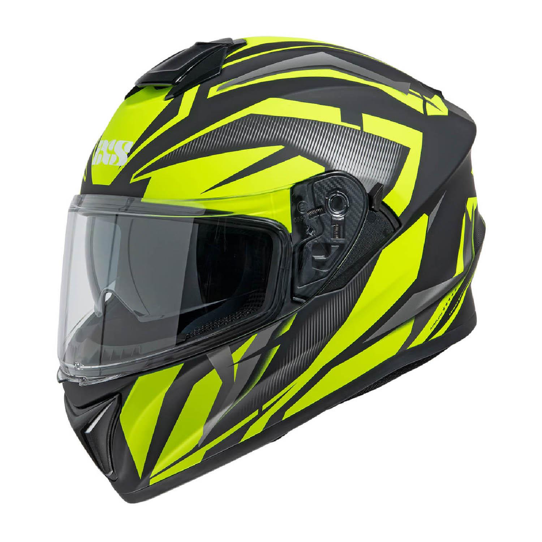 Шлем интегральный IXS 216 2.1 черно-желтого цвета купить по низкой цене