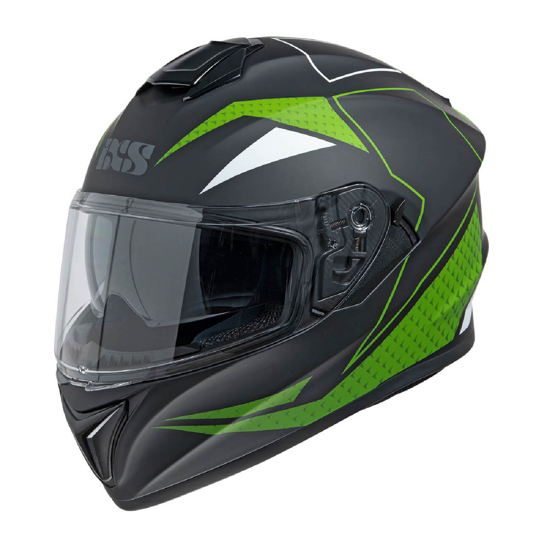 Casca integrală IXS 216 2.0 черно-зелёного цвета купить по низкой цене