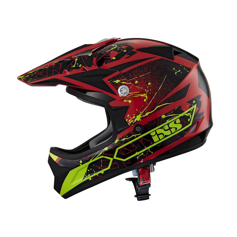 Шлем кроссовый IXS 278 KID 2.0 красного цвета купить по низкой цене