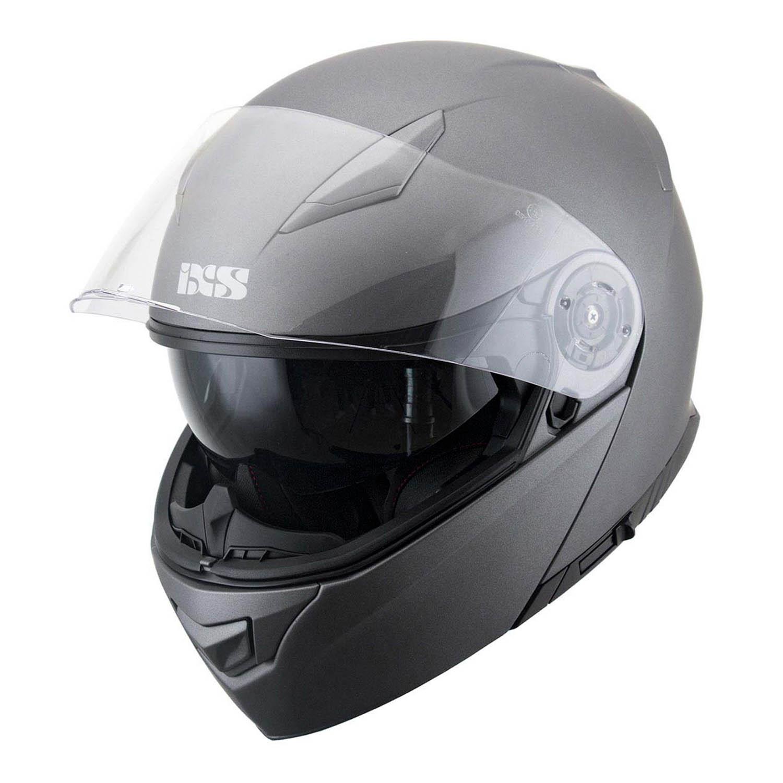 Casca modular IXS 300 1.0 титан матового, вид открытый для мотоциклистов купить по низкой цене