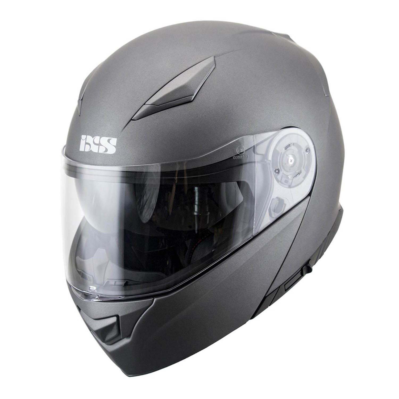 Casca modular IXS 300 1.0 титан матового цвета для мотоциклистов купить по низкой цене