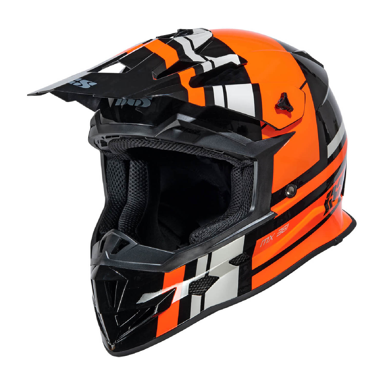 Шлем кроссовый IXS 361 2.3 черно-оранжево-серого цвета купить по низкой цене
