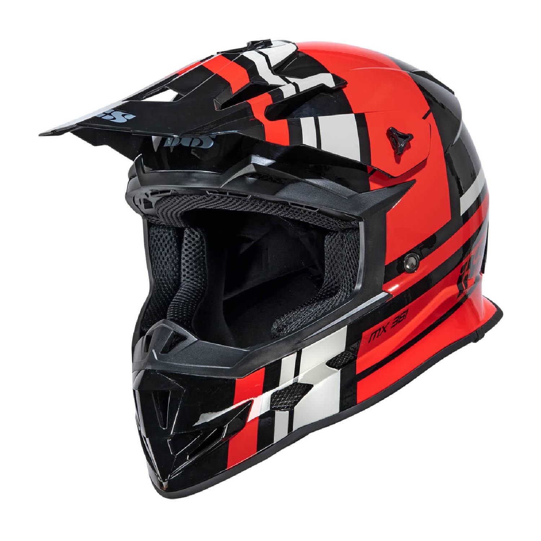 Шлем кроссовый IXS 361 2.3 черно-красно-серого цвета купить по низкой цене
