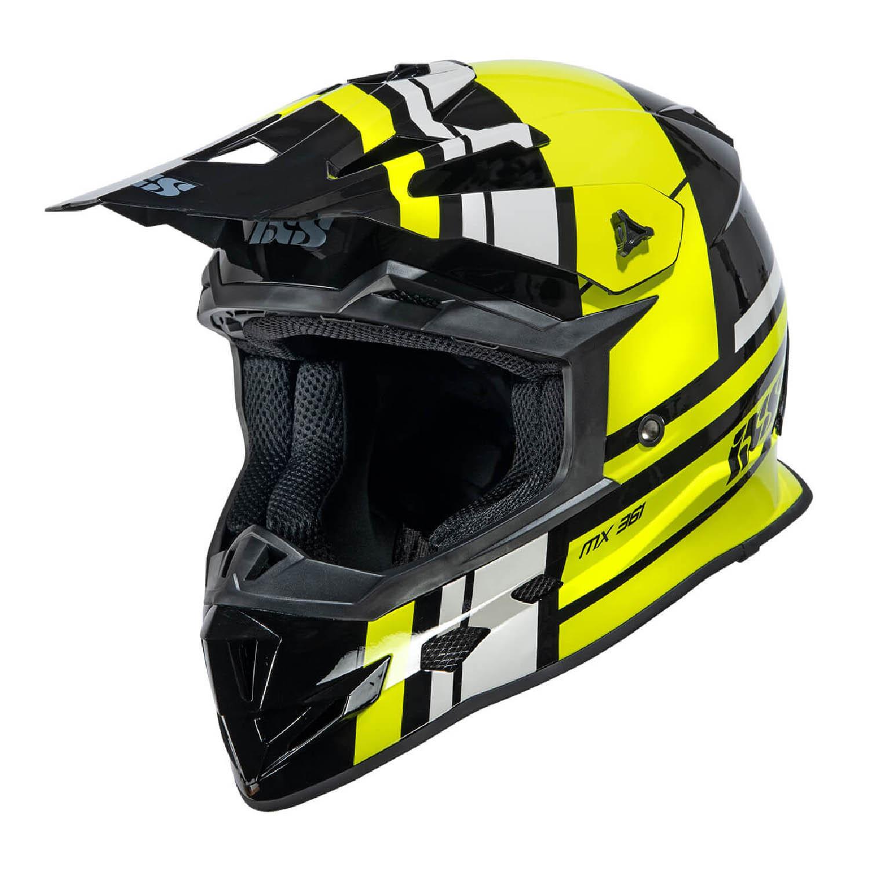 Шлем кроссовый IXS 361 2.3 черно-желто-серого цвета купить по низкой цене