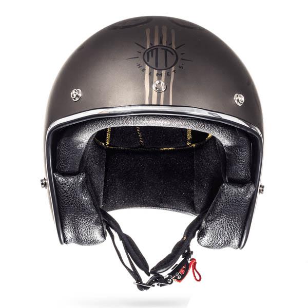 Шлем открытый MT LE MANS OUTLANDER вид спереди купить по низкой цене