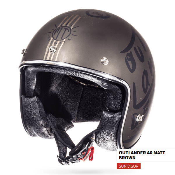 Шлем открытый MT LE MANS OUTLANDER вид слева спереди купить по низкой цене