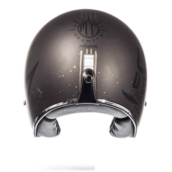 Шлем открытый MT LE MANS OUTLANDER вид сзади купить по низкой цене