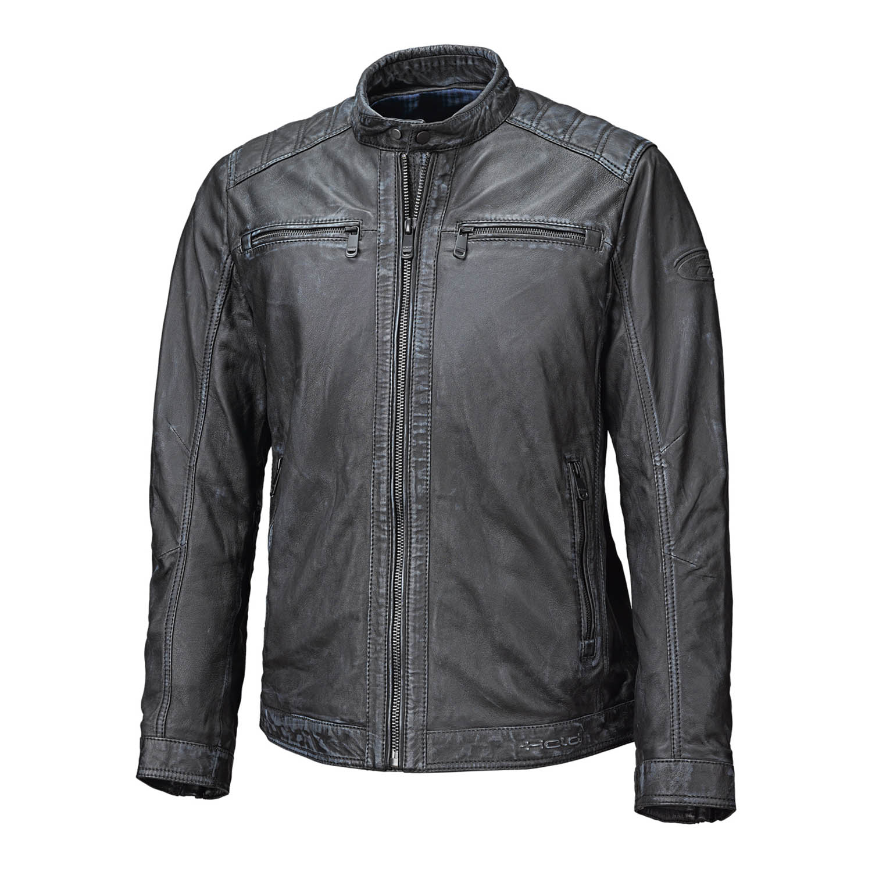 Куртка кожаная HELD HARRY для мотоциклистов вид спереди купить по низкой цене