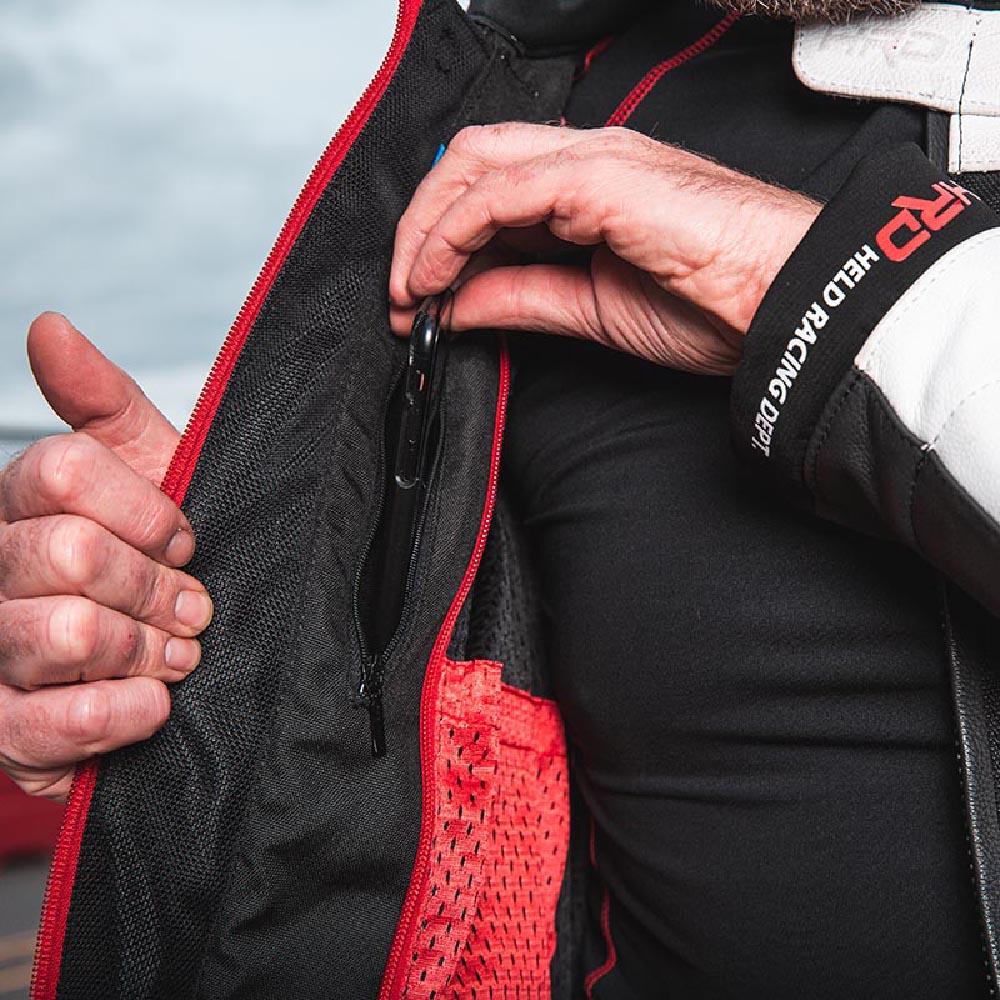 Куртка кожаная HELD HASHIRO II спортивная для мотоциклистов вид карман купить по низкой цене