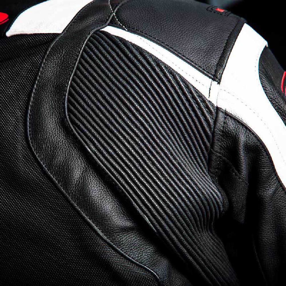 Куртка кожаная HELD HASHIRO II спортивная для мотоциклистов вид плеч купить по низкой цене