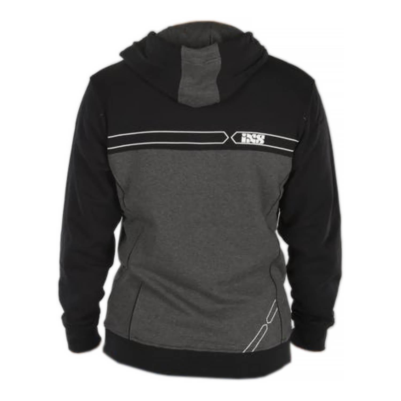 Куртка-толстовка HOODY IXS TEAM текстиль с капюшоном вид сзади купить по низкой цене
