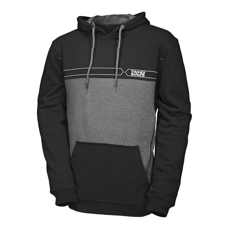 Куртка-толстовка HOODY IXS TEAM текстиль с капюшоном вид спереди купить по низкой цене