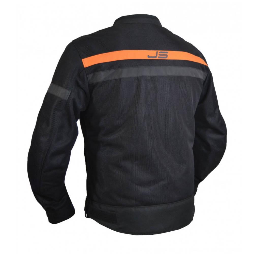 Geacă textilă Jollisport Mach цвет чёрный с оранжевыми вставками вид сзади купить по низкой цене