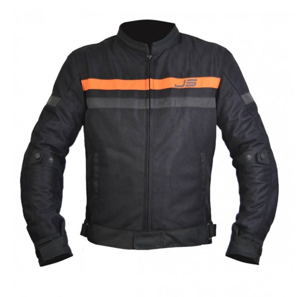Geacă textilă Jollisport Mach цвет чёрный с оранжевыми вставками купить по низкой цене