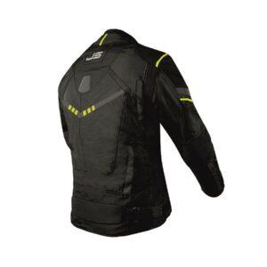 Geacă textilăя Jollisport Venom цвет чёрный с желтыми вставками вид сзади купить по низкой цене