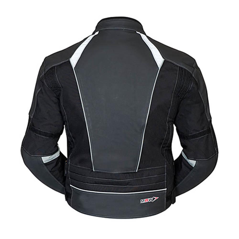 Geaca de piele MBW LANTA вид сзади для мотоциклистов купить по низкой цене
