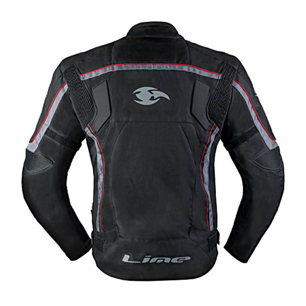 Куртка текстильная MBW NEO RED вид сзади для мотоциклистов купить по низкой цене