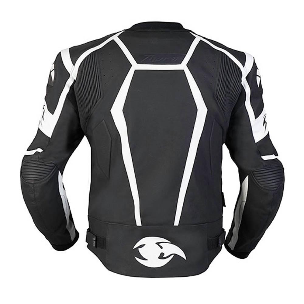 Спортивная куртка кожаная MBW THORN вид сзади для мотоциклистов купить по низкой цене