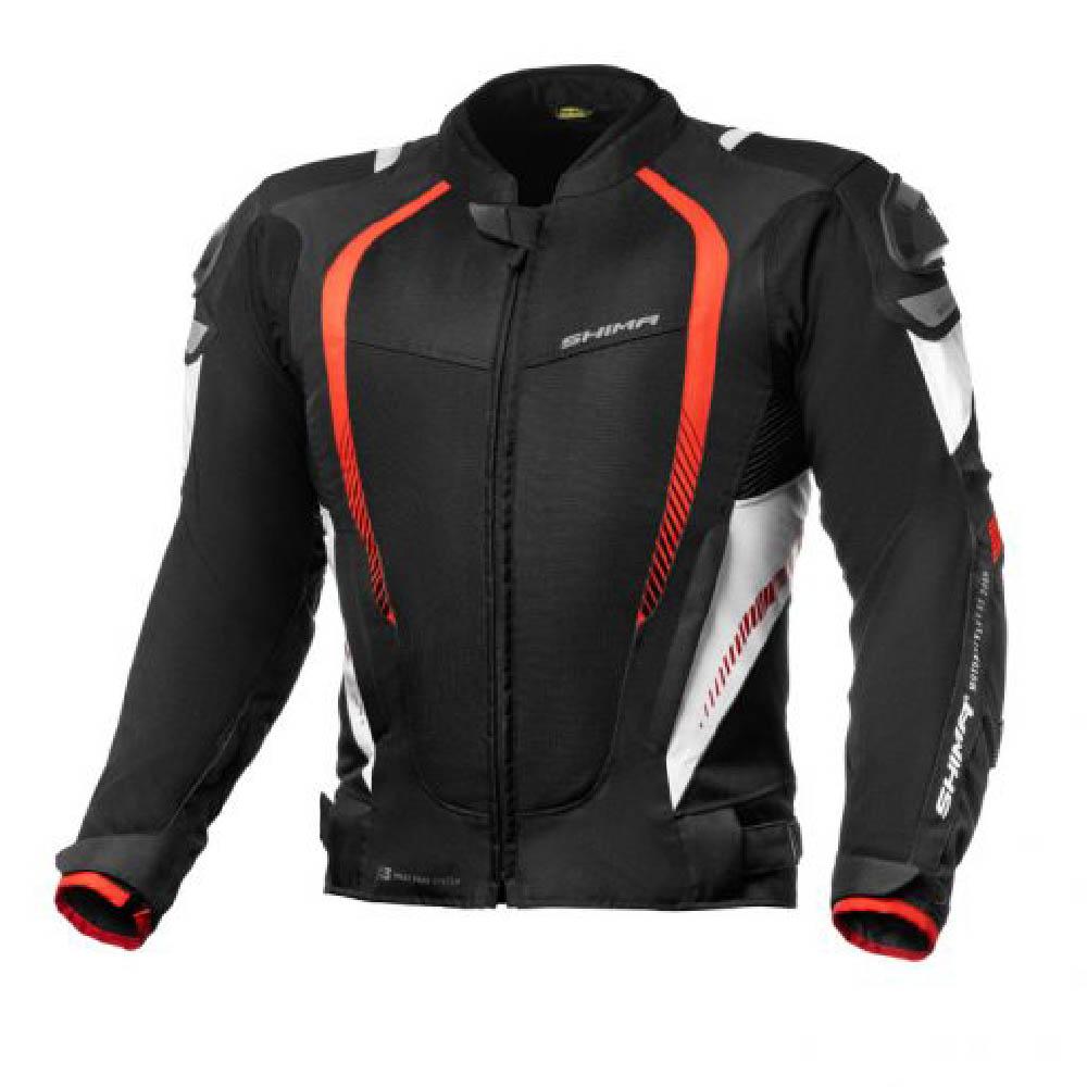 Куртка текстильная SHIMA MESH PRO цвет чёрный с красным купить по низкой цене