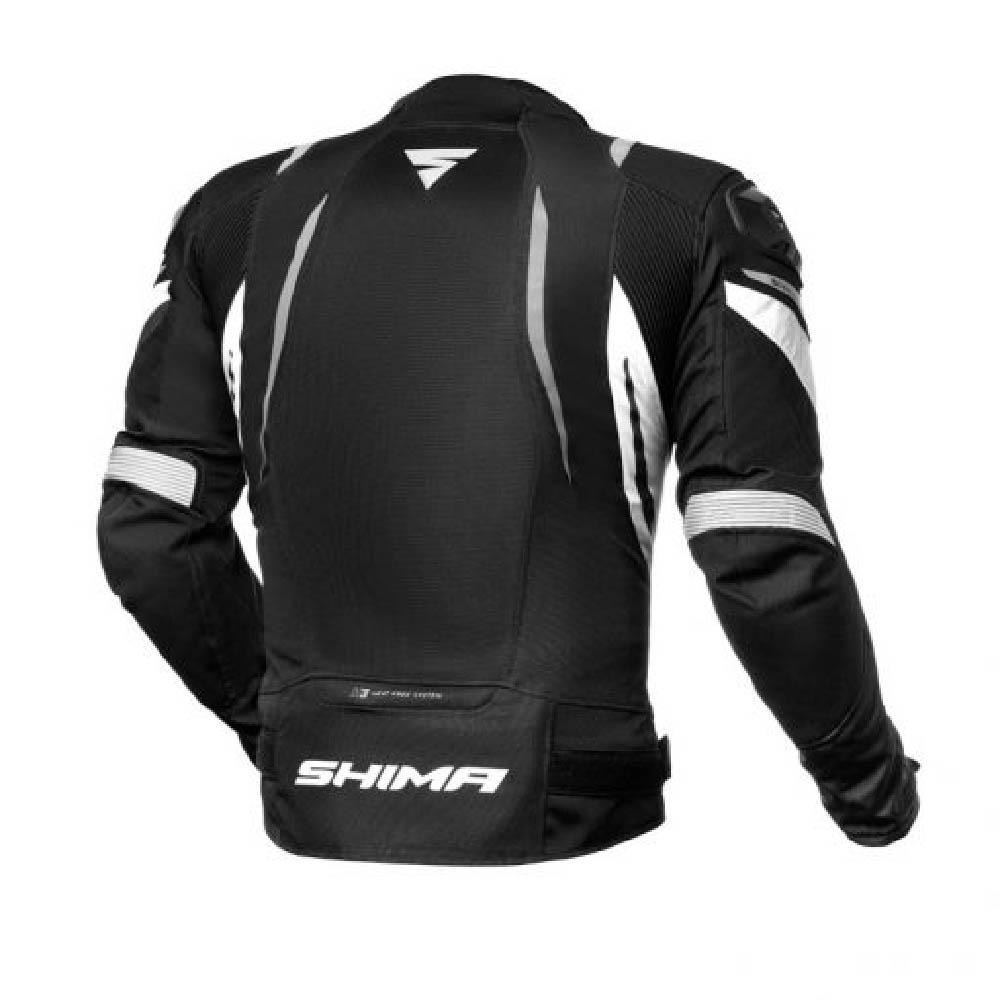 Куртка текстильная SHIMA MESH PRO цвет чёрный с белым вид сзади купить по низкой цене