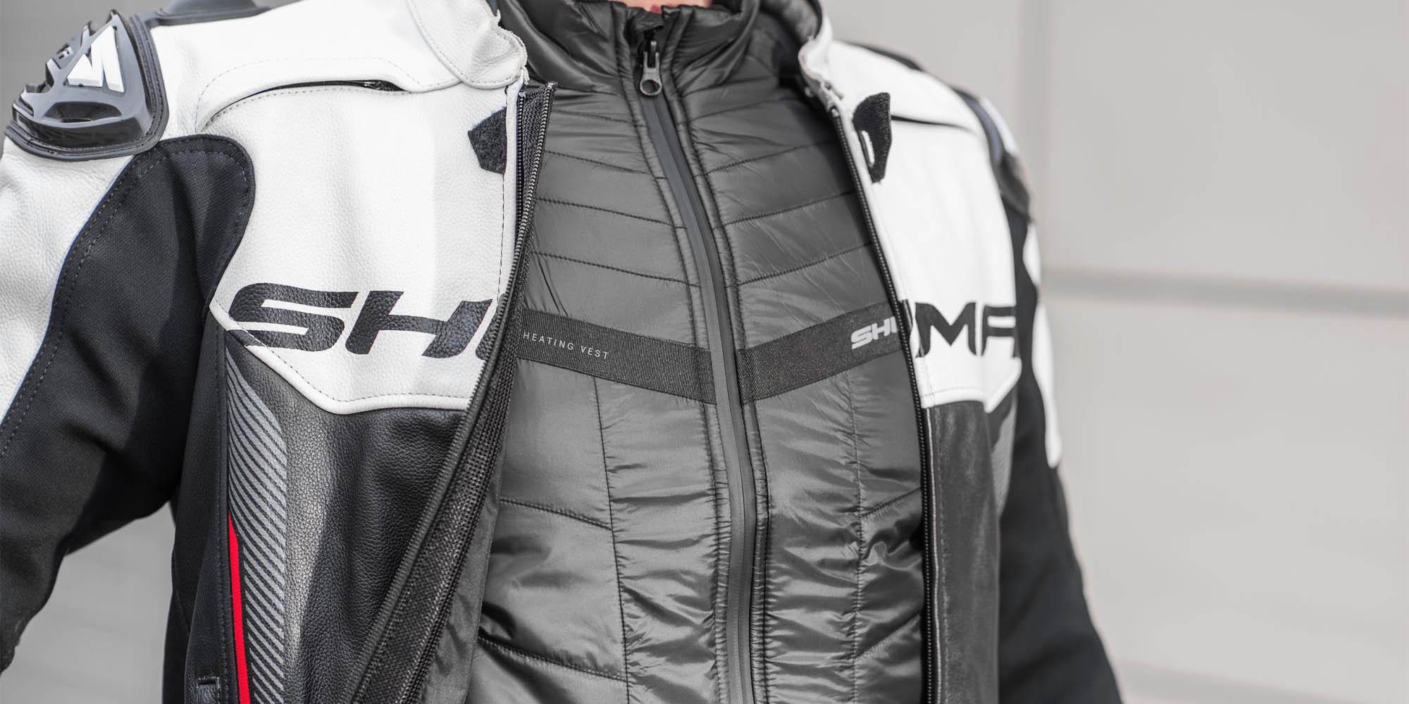 Жилет SHIMA POWERHEAT VEST утепляющий для мотоциклистов вид спереди купить по низкой цене