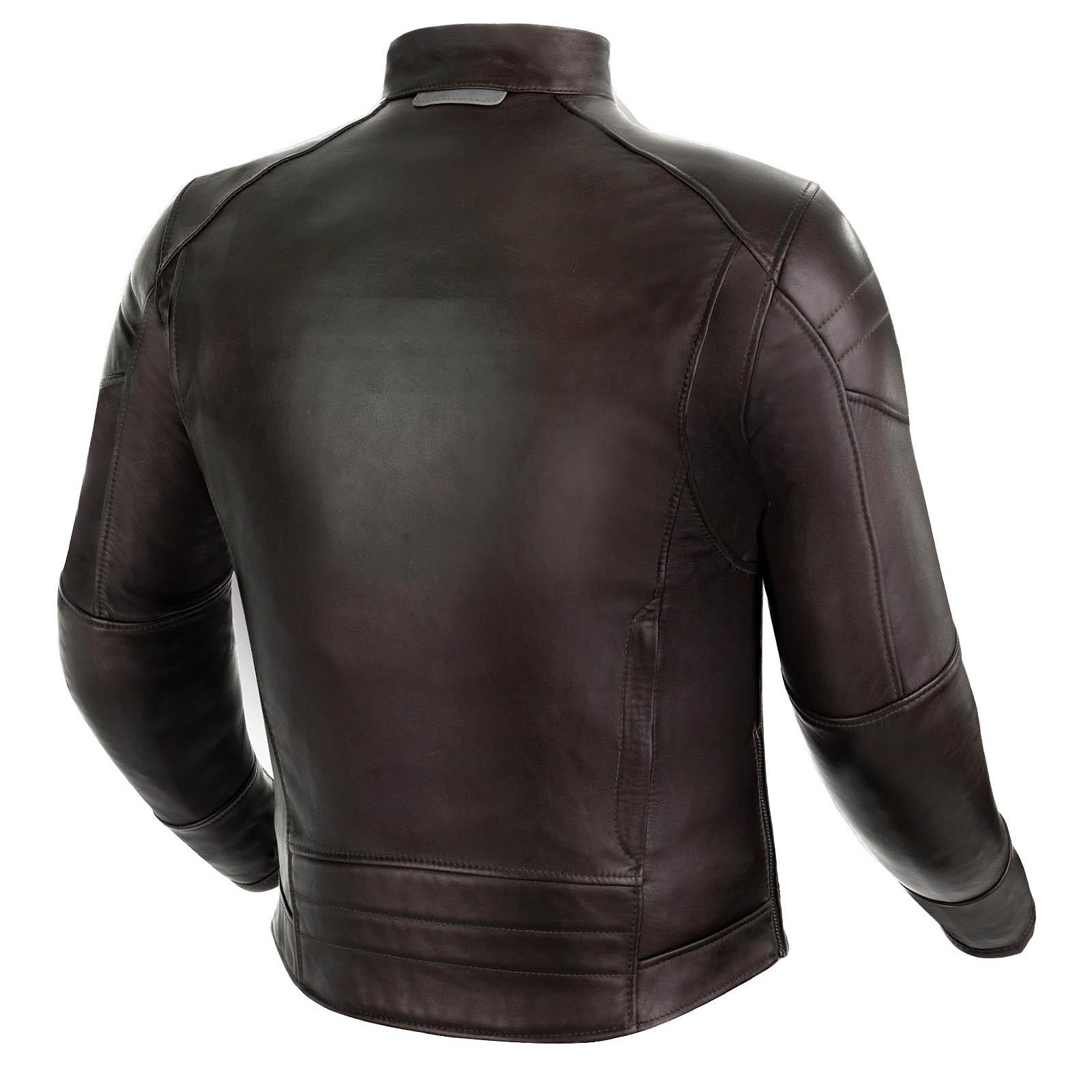 Куртка кожаная SHIMA BLAKE вид сзади для мотоциклистов купить по низкой цене