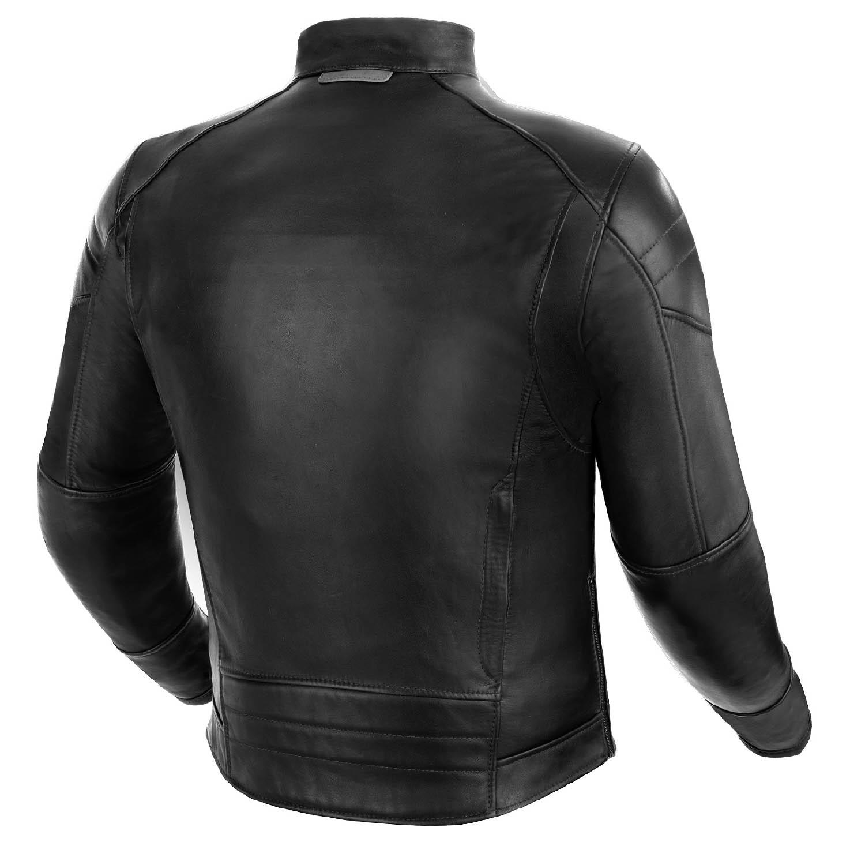 Куртка кожаная SHIMA BLAKE черного цвета вид сзади для мотоциклистов купить по низкой цене