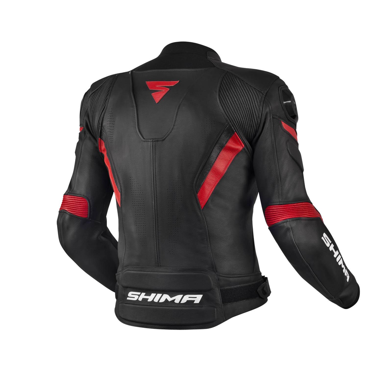 Спортивная куртка кожаная SHIMA CHASE вид сзади для мотоциклистов купить по низкой цене