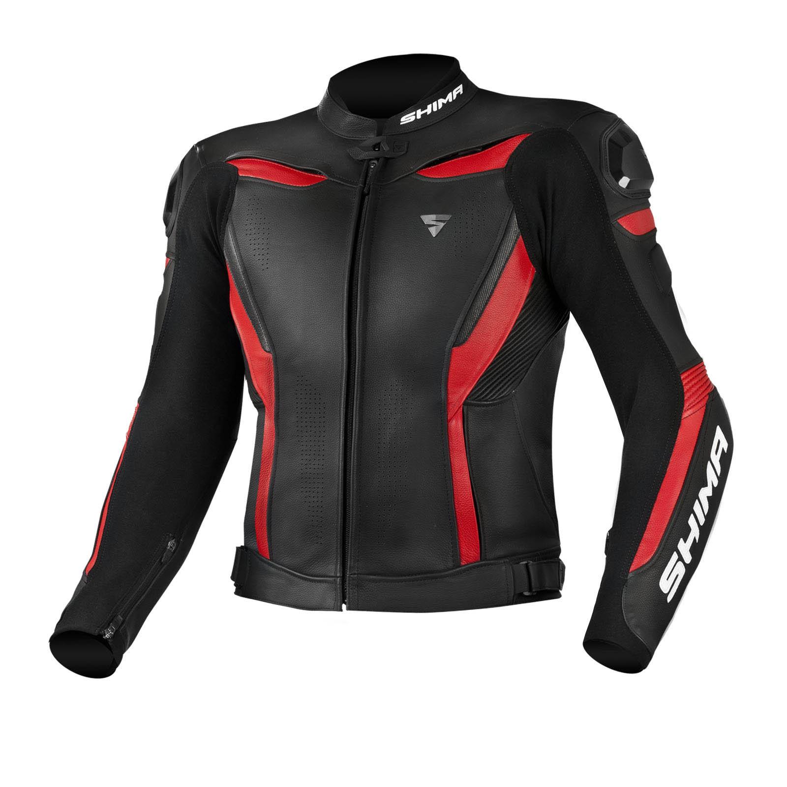 Спортивная куртка кожаная SHIMA CHASE вид спереди для мотоциклистов купить по низкой цене