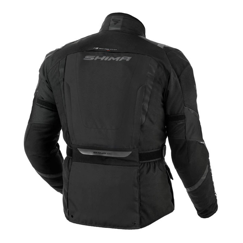 Туристическая куртка SHIMA HERO из текстиля для мотоциклистов вид сзади купить по низкой цене