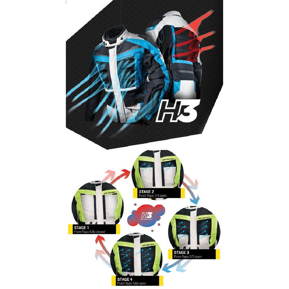 Туристическая куртка SHIMA HORIZON из текстиля для мотоциклистов вид система H3 купить по низкой цене