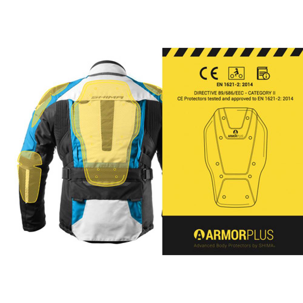 Туристическая куртка SHIMA HORIZON из текстиля для мотоциклистов вид защита спины купить по низкой цене