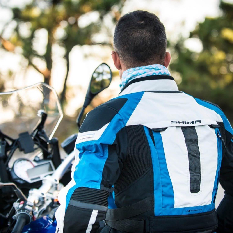 Туристическая куртка SHIMA HORIZON из текстиля для мотоциклистов вид со спины купить по низкой цене