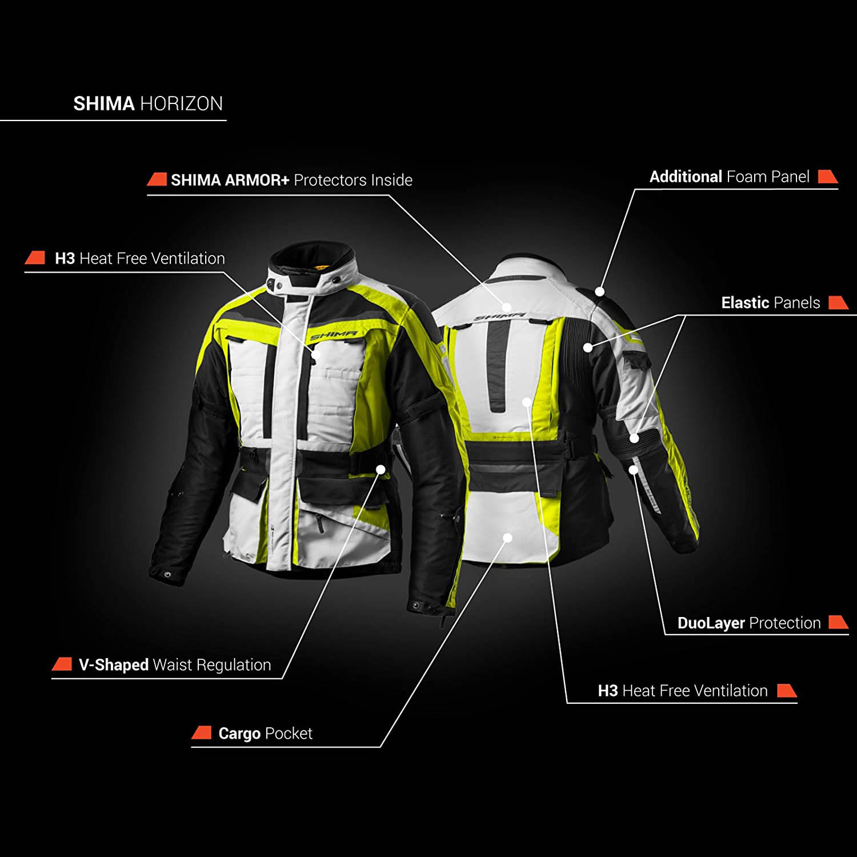 Туристическая куртка SHIMA HORIZON из текстиля для мотоциклистов система защиты купить по низкой цене