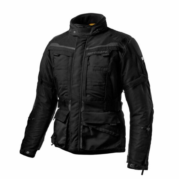 Туристическая куртка SHIMA HORIZON из текстиля черного цвета для мотоциклистов купить по низкой цене