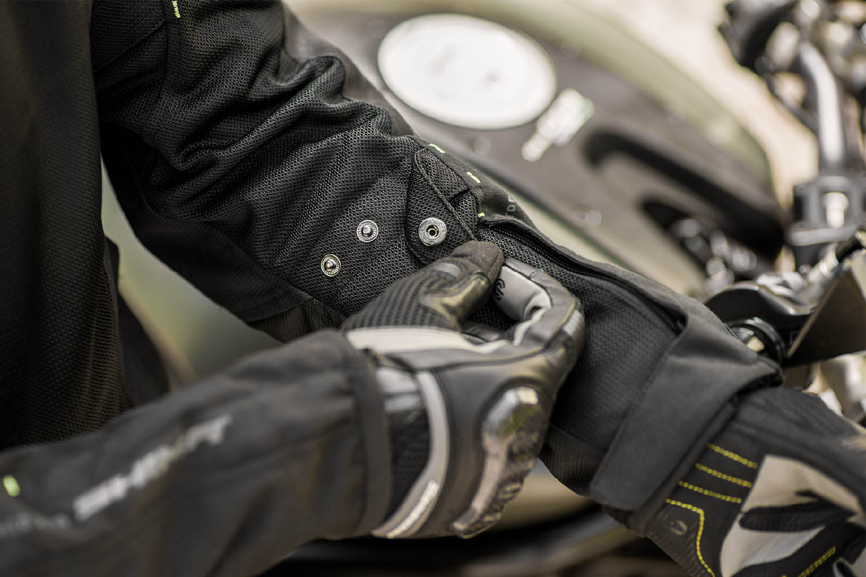 Летняя куртка SHIMA JET текстильная для мотоциклистов вид рукав купить по низкой цене