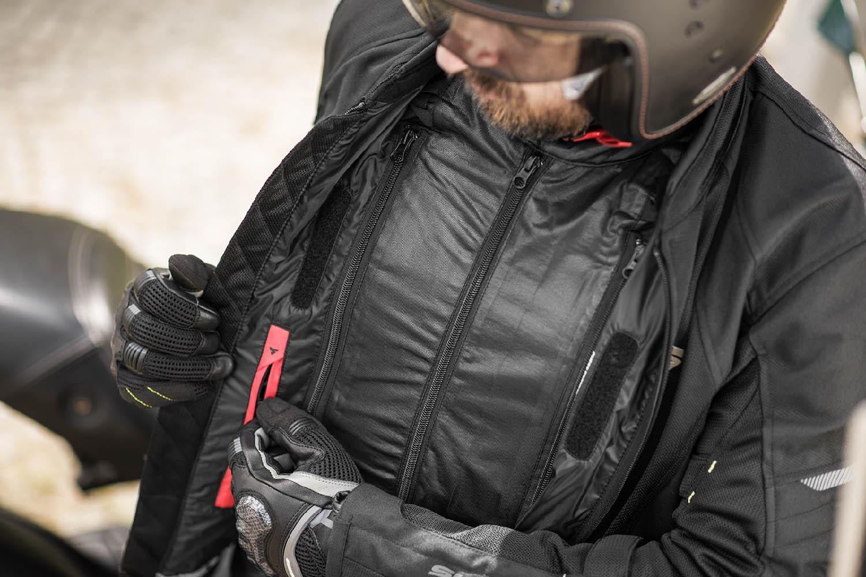 Летняя куртка SHIMA JET текстильная для мотоциклистов вид карман купить по низкой цене