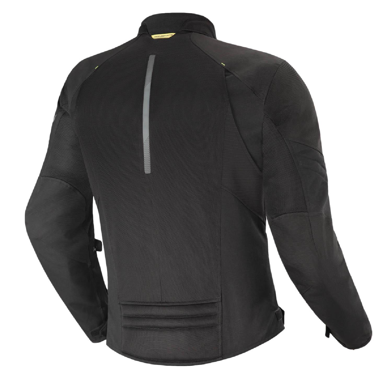 Летняя куртка SHIMA JET текстильная для мотоциклистов вид сзади купить по низкой цене