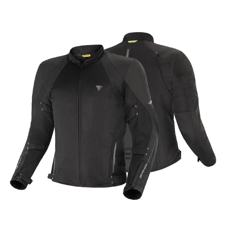 Летняя куртка SHIMA JET текстильная для мотоциклистов вид спереди и сзади купить по низкой цене