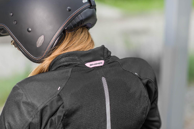 Женская куртка SHIMA JET LADY текстильная для мотоциклистов вид сетка на спине купить по низкой цене