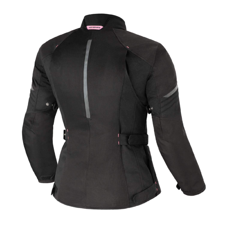 Женская куртка SHIMA JET LADY чёрного цвета текстильная для мотоциклистов вид сзади купить по низкой цене