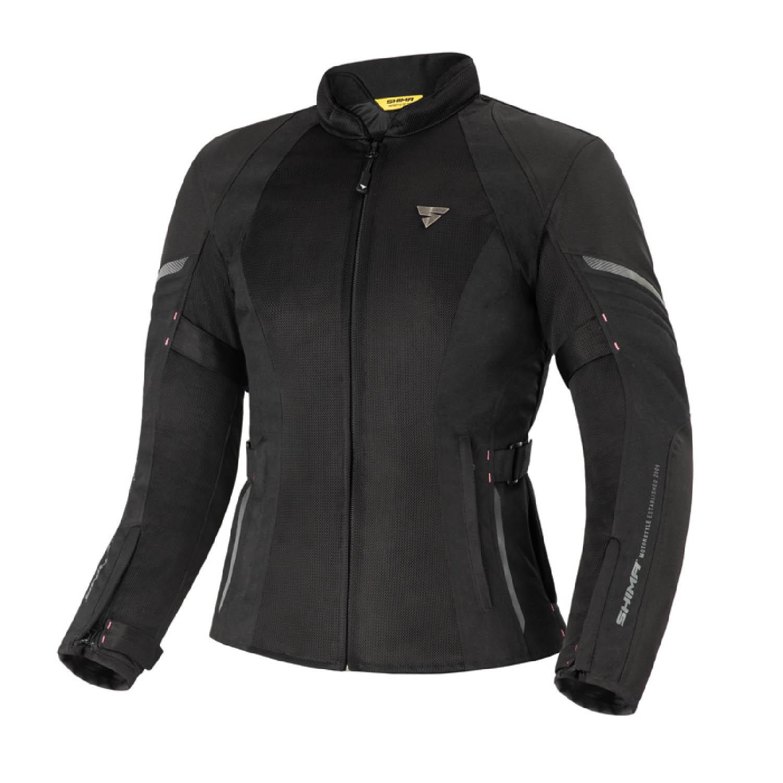 Женская куртка SHIMA JET LADY чёрного цвета текстильная для мотоциклистов купить по низкой цене
