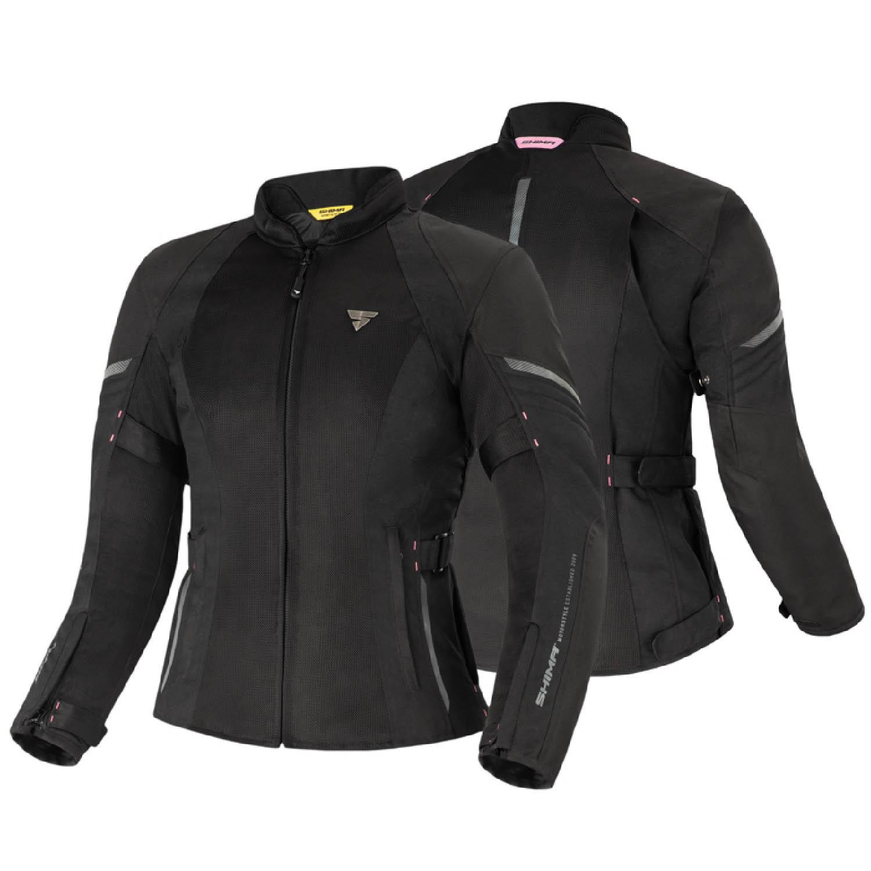 Женская куртка SHIMA JET LADY чёрного цвета текстильная для мотоциклистов вид пара купить по низкой цене