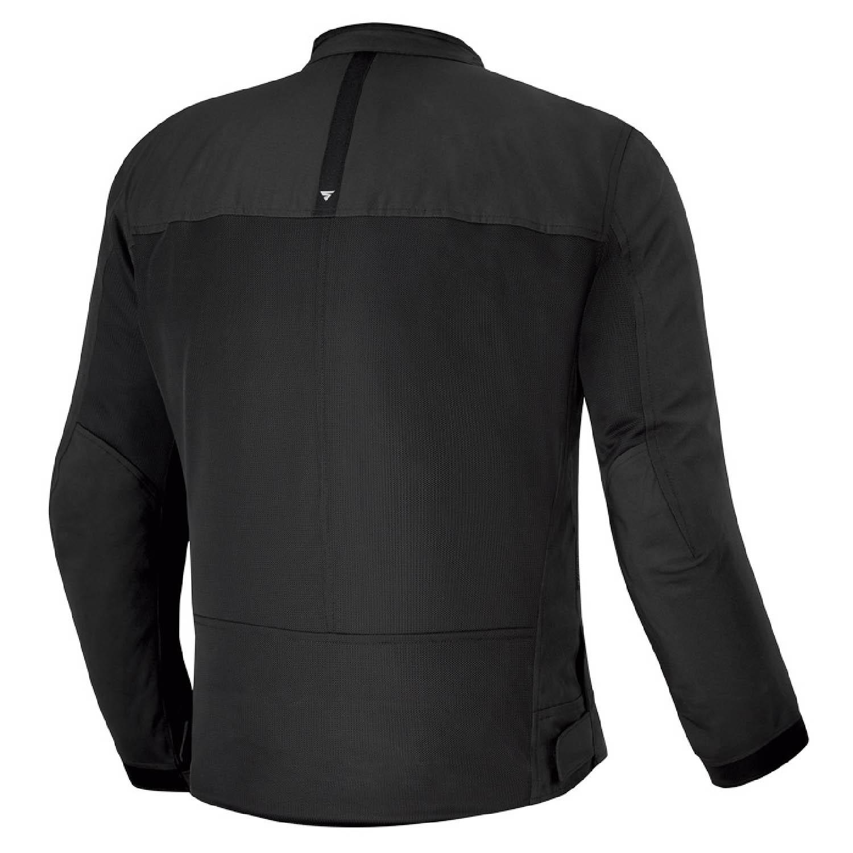 Летняя куртка SHIMA OPENAIR чёрного цвета текстильная для мотоциклистов вид сзади купить по низкой цене